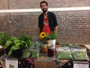Dominic d'Eustachio sold vegetables and herbs to support a community garden on Port St.